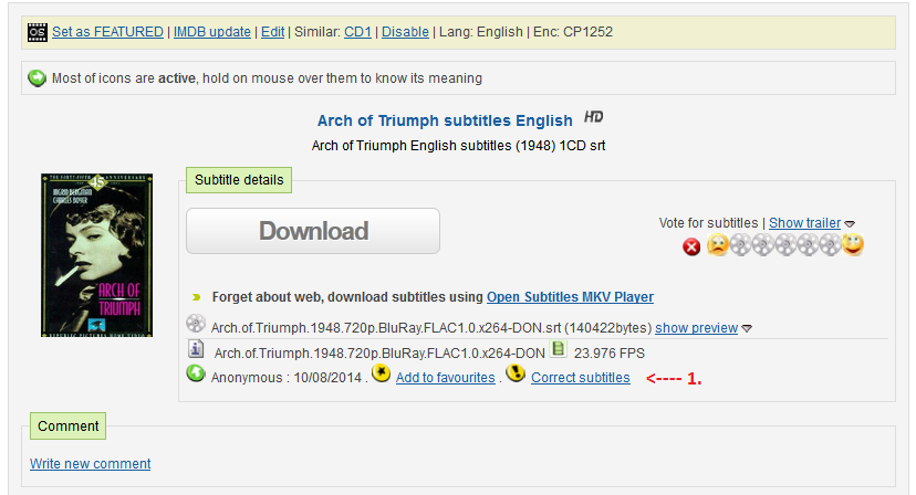 HOW TO CORRECT/REPORT SUBTITLES GUIDE - OpenSubtitles forum